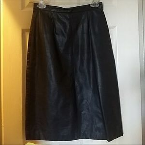 Dresses & Skirts - Real leather skirt